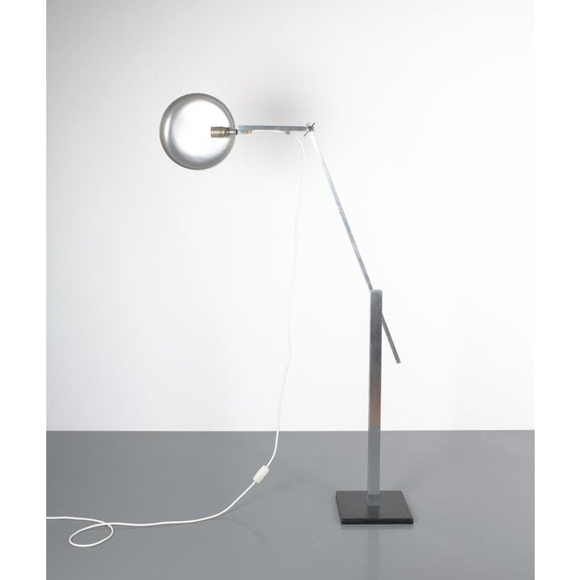 Articulate Aluminum Floor Lamp by Schliephacke for Mewa, Circa 1955 For Sale - Image 4 of 12
