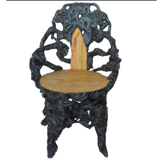 Early 20th C. Antique Black Forest Chair For Sale - Image 4 of 4