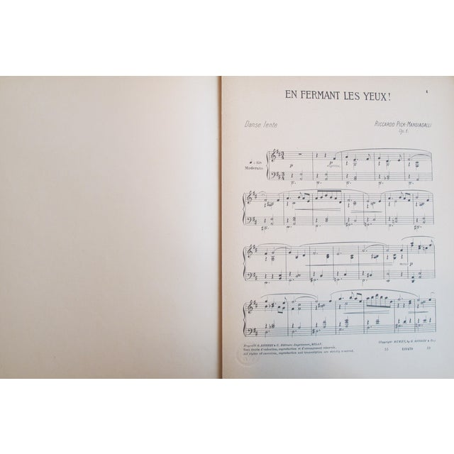 1910 Italian Music Sheet en Fermant Les Yeux - Image 3 of 4