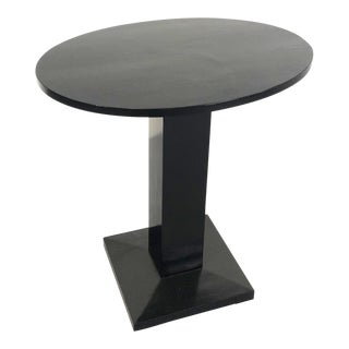 Art Deco Side Table From 1920, in Black Lacquered Wood and Restored For Sale