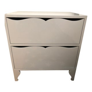 ABC Carpet and Home Grey Lacquer Nightstands - a Pair