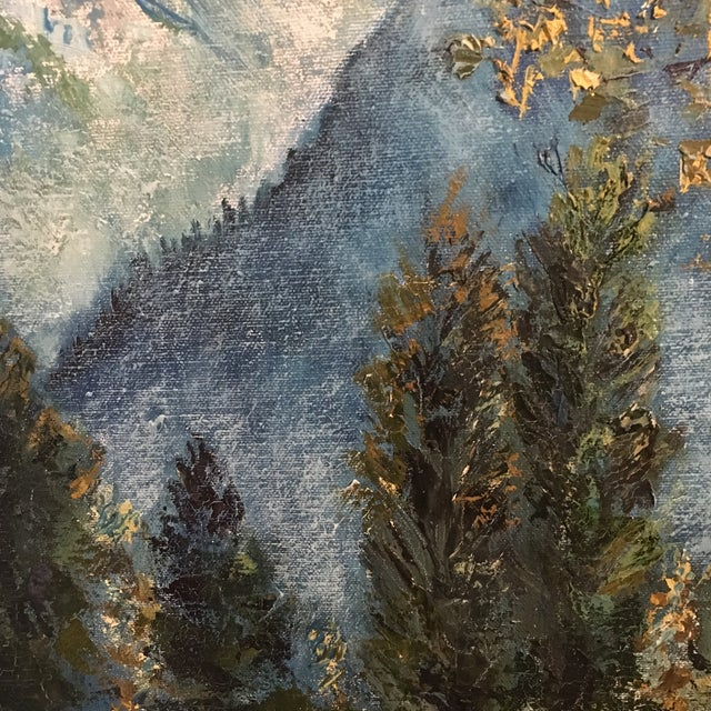 Oil Paint R. Woolman Mountain Landscape Oil Painting For Sale - Image 7 of 10