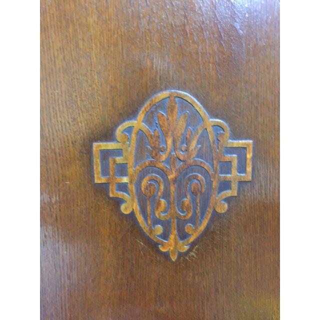 Art Deco Bath Cabinet Makers 1928 Oak Art Deco Armoire For Sale - Image 3 of 6