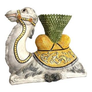 Mid Century Italian Large Camel Planter For Sale