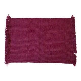 Boho Chic Aelfie Handmade Fuchsia Wool Rug