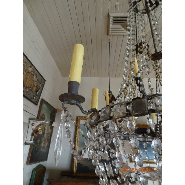 18th Century Empire Crystal Chandelier For Sale - Image 9 of 13