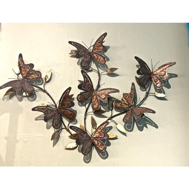 Curtis Jere 1970's Vintage Curtis Jere-Style Butterfly Wall Sculpture For Sale - Image 4 of 5
