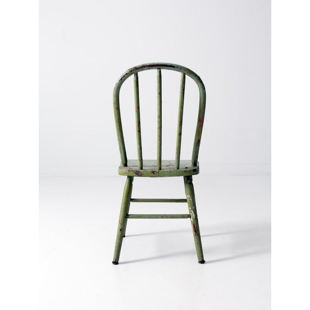 Antique Children's Chair With Spindle Back For Sale - Image 4 ... - Antique Children's Chair With Spindle Back Chairish