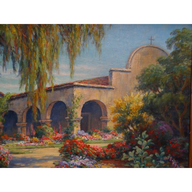 Early 20th Century Antique Marius Smith Mission Floral Landscape Painting For Sale In Los Angeles - Image 6 of 9