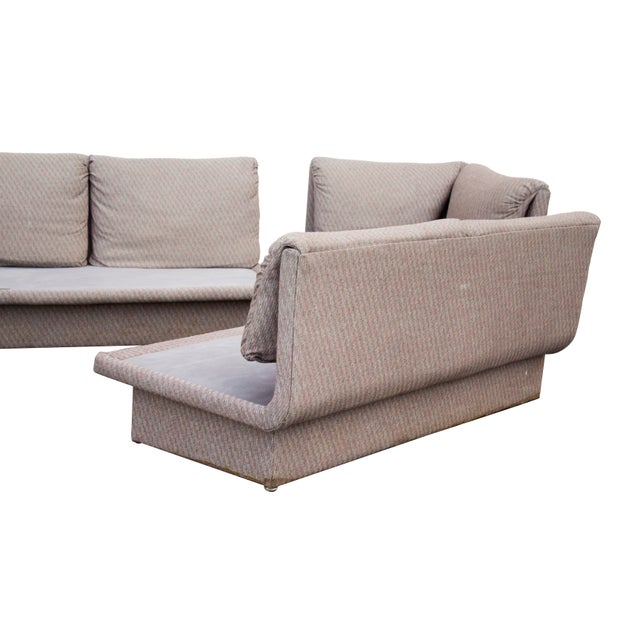 Postmodern Three Piece Sectional Sofa by Bernhardt - Set of 3 For Sale - Image 9 of 13