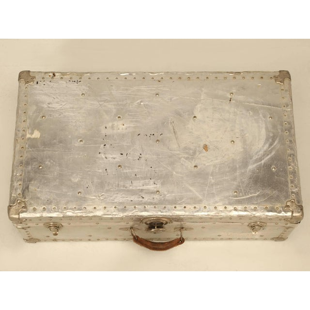 French French Metal Trunk For Sale - Image 3 of 10