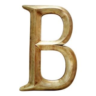"""Vintage Large 18"""" Gold Silver Letter B For Sale"""