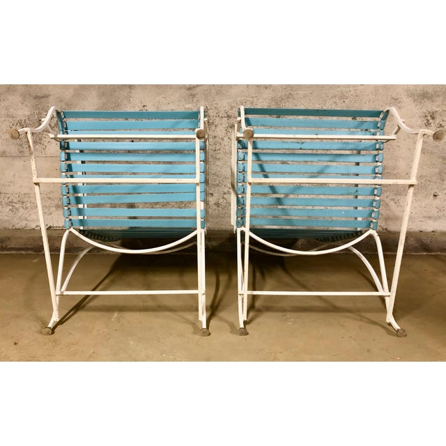 Pair of Mid Century Modern High Back Patio Lounge Chairs For Sale - Image 11 of 13