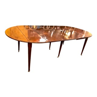 French Louis XVI Mahogany Extending Dining Table, Early 19th Century For Sale