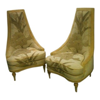 Vintage 1970's Phyllis Morris Fantasy Hollywood Regency Chairs- a Pair For Sale