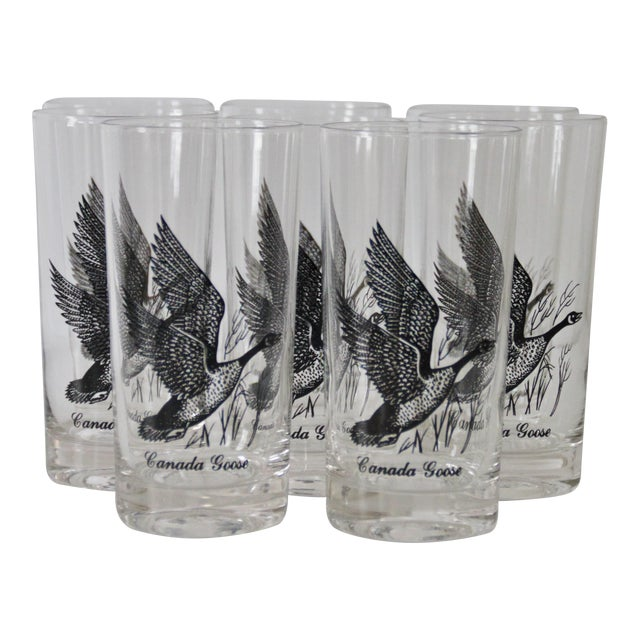 1960s Canada Goose Glasses - Set of 8 For Sale