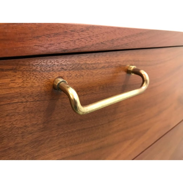 Wood 1970s Mid Century ModernAmerican of Martinsville Credenza For Sale - Image 7 of 12