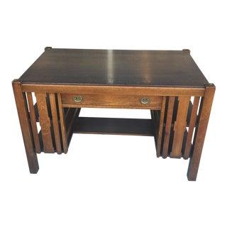 Mission Oak Desk With Bookshelf Sides