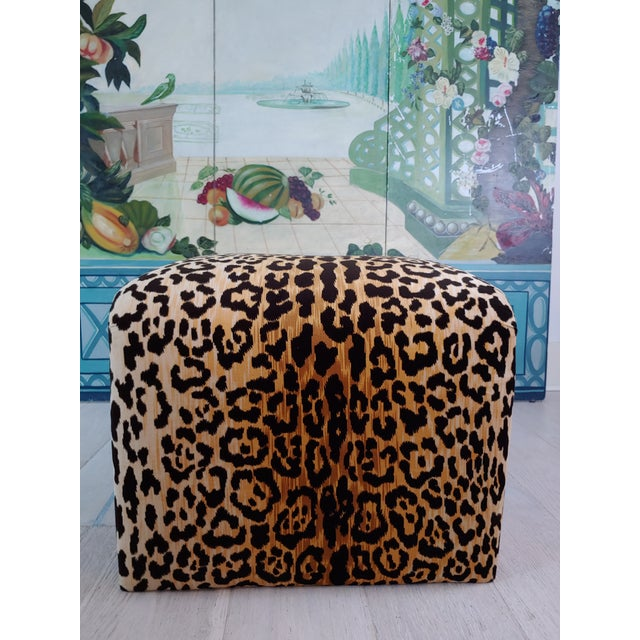 Stylish, gorgeous, sexy, ( no not you silly!) Velvet Leopard Waterfall bench. An authentic piece from the 80s' freshly,...