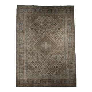Early 20th Century Antique Persian Hand-Knotted Wool Joshegan Rug - 9′11″ × 13′6″ For Sale
