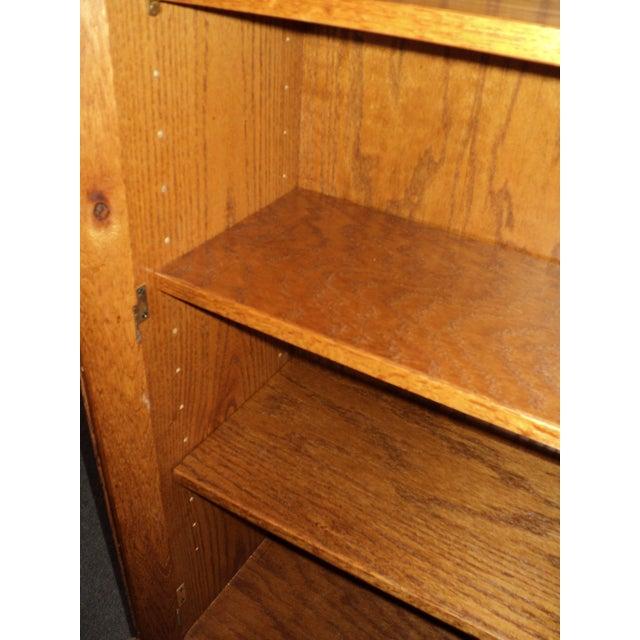 2000 - 2009 Custom Built Two Door Solid Oak Bookcase For Sale - Image 5 of 7