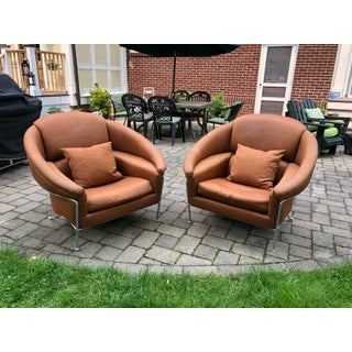 1980s Vintage Milo Baughman for Thayer Coggin Boldido Lounge Chairs - a Pair Preview