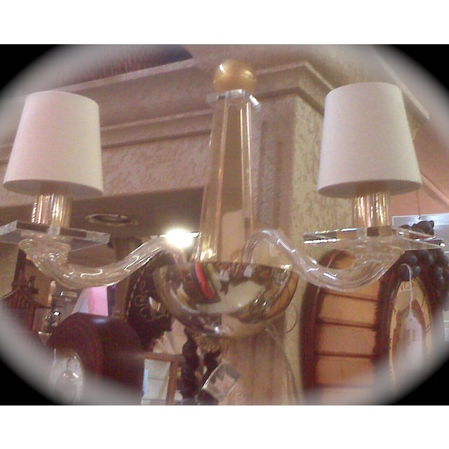 Gold Donghia -Stellare 2-Arm Gold Dust Murano Sconce For Sale - Image 8 of 11