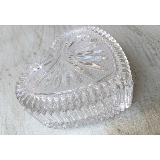 Art Deco Style Crystal Heart Jewelry Box - Image 4 of 10