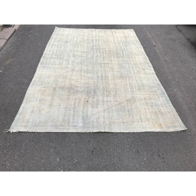 "Textile Antique Hand Woven Tribal Rug - 6'5"" x 9'8"" For Sale - Image 7 of 7"