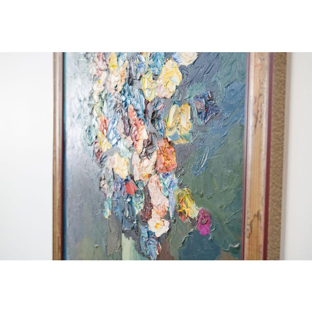 style: signed, original, still life, floral, painting material: canvas, latex paint, wood frame signed: Zerva Duff age:...