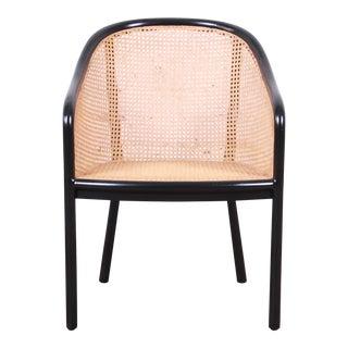 Ward Bennett for Brickel Associates Landmark Ebonized Ash and Cane Armchair For Sale
