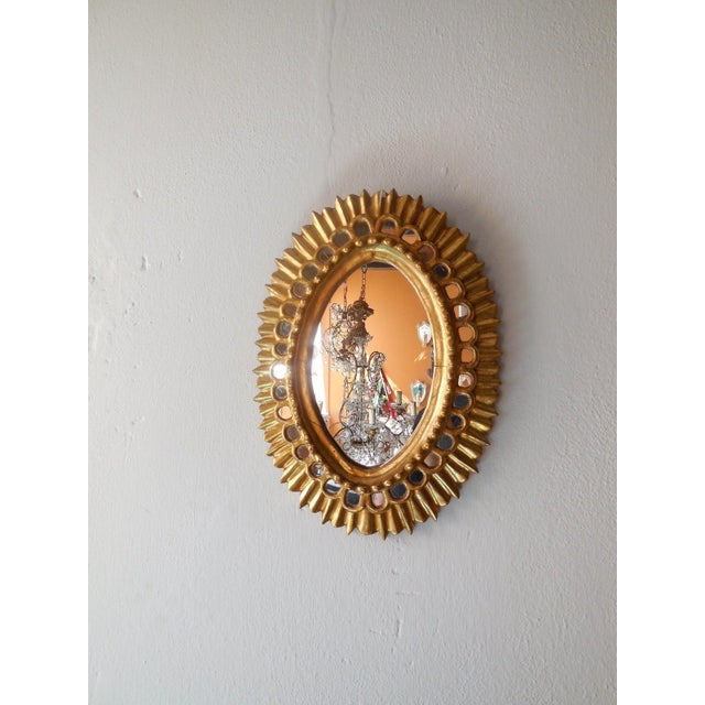 Wood French Gold Gilt Wood Starburst Sunburst Mirror For Sale - Image 7 of 11
