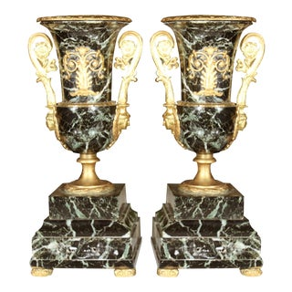 Neoclassical Marble Urns - A Pair