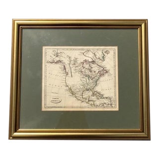 19th Century Antique North America Map by John Charles Russell For Sale