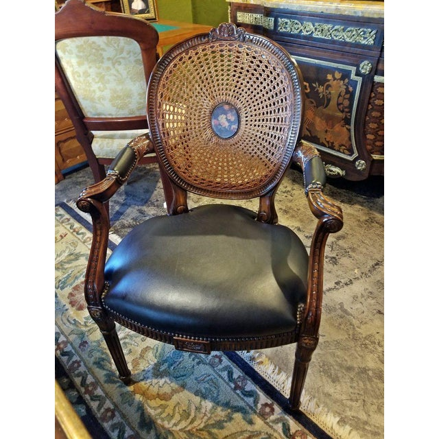 Yellow French Bergere Chair by Theodore Alexander For Sale - Image 8 of 9