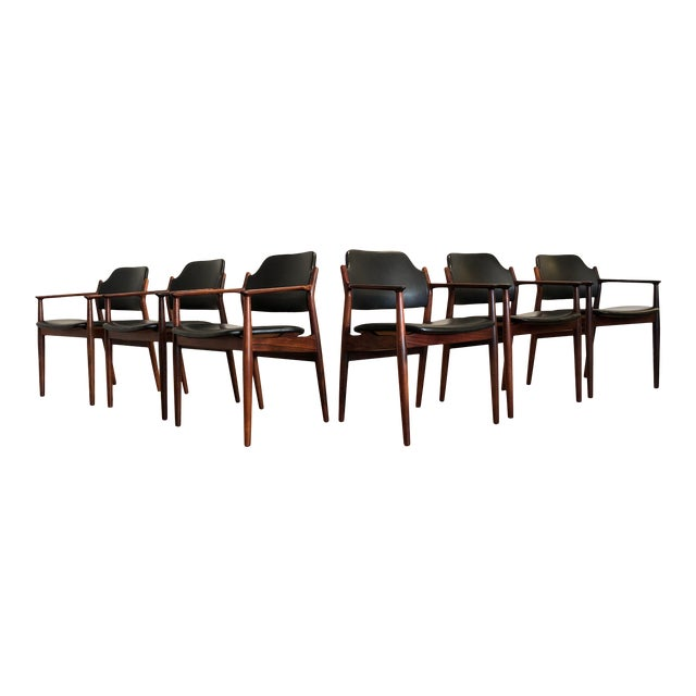 Rosewood Chairs by Arne Vodder for Sibast Furniture, Made in Denmark, Set of 6 For Sale