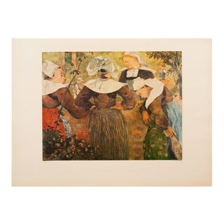 "1950s Paul Gauguin, First Edition Lithograph ""Breton Peasant Women"" For Sale"