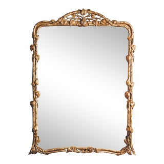 Carvers Guild Gilt Beveled Art Nouveau Wall Mirror by For Sale