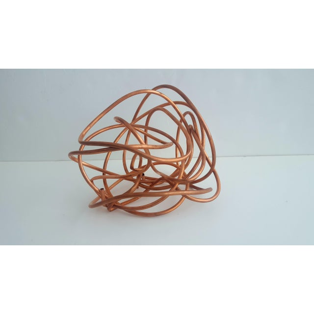 """Abstract Original Copper Coil """"Chaos"""" Twisted Knot Sculpture For Sale - Image 3 of 11"""