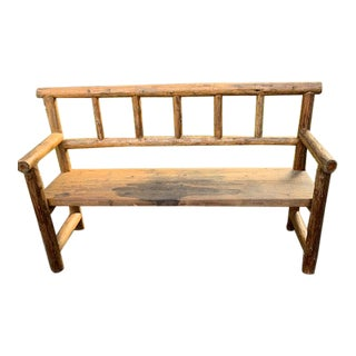1920s Vintage American Adirondack Bench For Sale