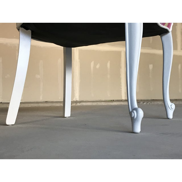 20th Century Dining Armless Side Chairs Scroll Foot Cabriolet Leg Drexel Touraine - Set of 6 For Sale - Image 10 of 13