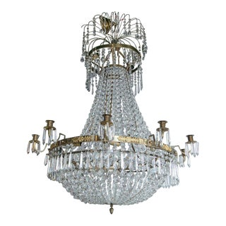 19th Century Swedish Empire Style Chandelier For Sale