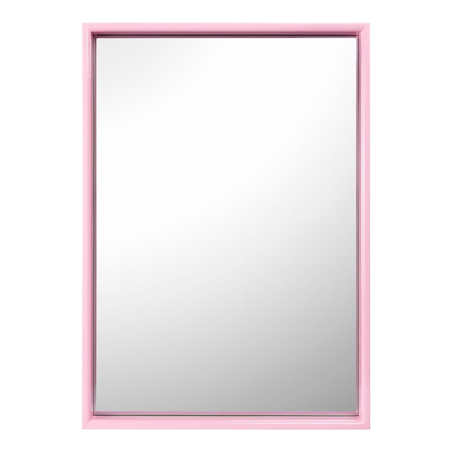 Large Rectangular Mirror in Kelly Green / Pink - Pentreath & Hall for The Lacquer Company For Sale