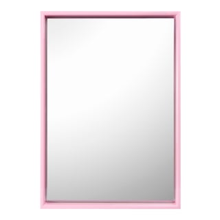Pentreath & Hall Collection Large Rectangular Mirror in Kelly Green / Pink For Sale