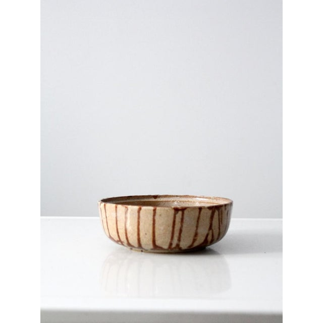 1970s Brown Glazed Pottery Bowl - Image 2 of 8