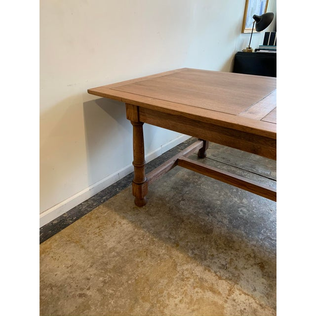 Wood Antique French Farm Dining Table For Sale - Image 7 of 9