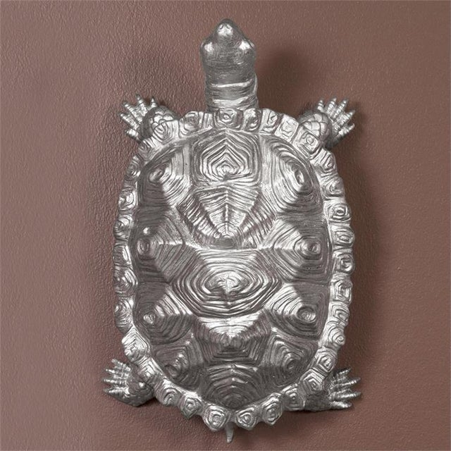 Kenneth Ludwig Chicago Kenneth Ludwig Chicago Turtle Figurine Textured Pewter For Sale - Image 4 of 5