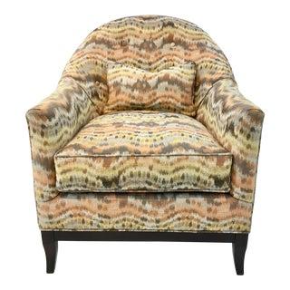 J Bertrum for Robert Allen Flame Stich Modern Club Chair For Sale