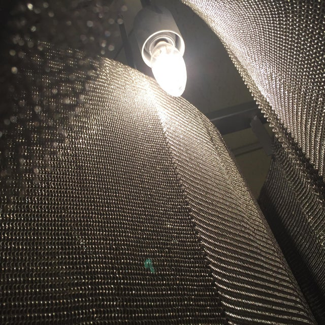 2000s Ochre Modern Chainmail Chandelier For Sale - Image 5 of 8