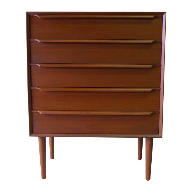 Mid-Century Danish Modern Teak Dresser For Sale